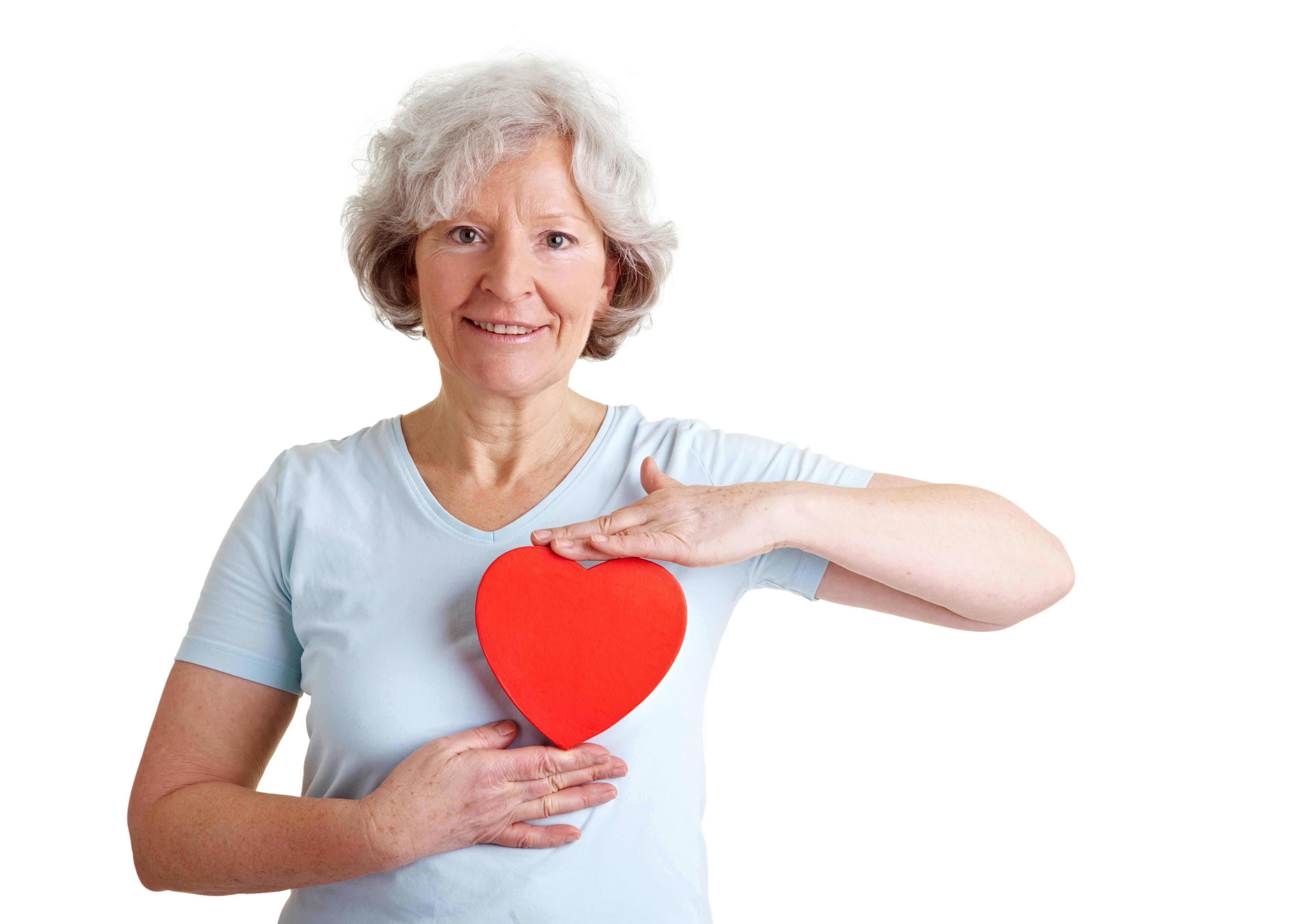 Anziana in salute