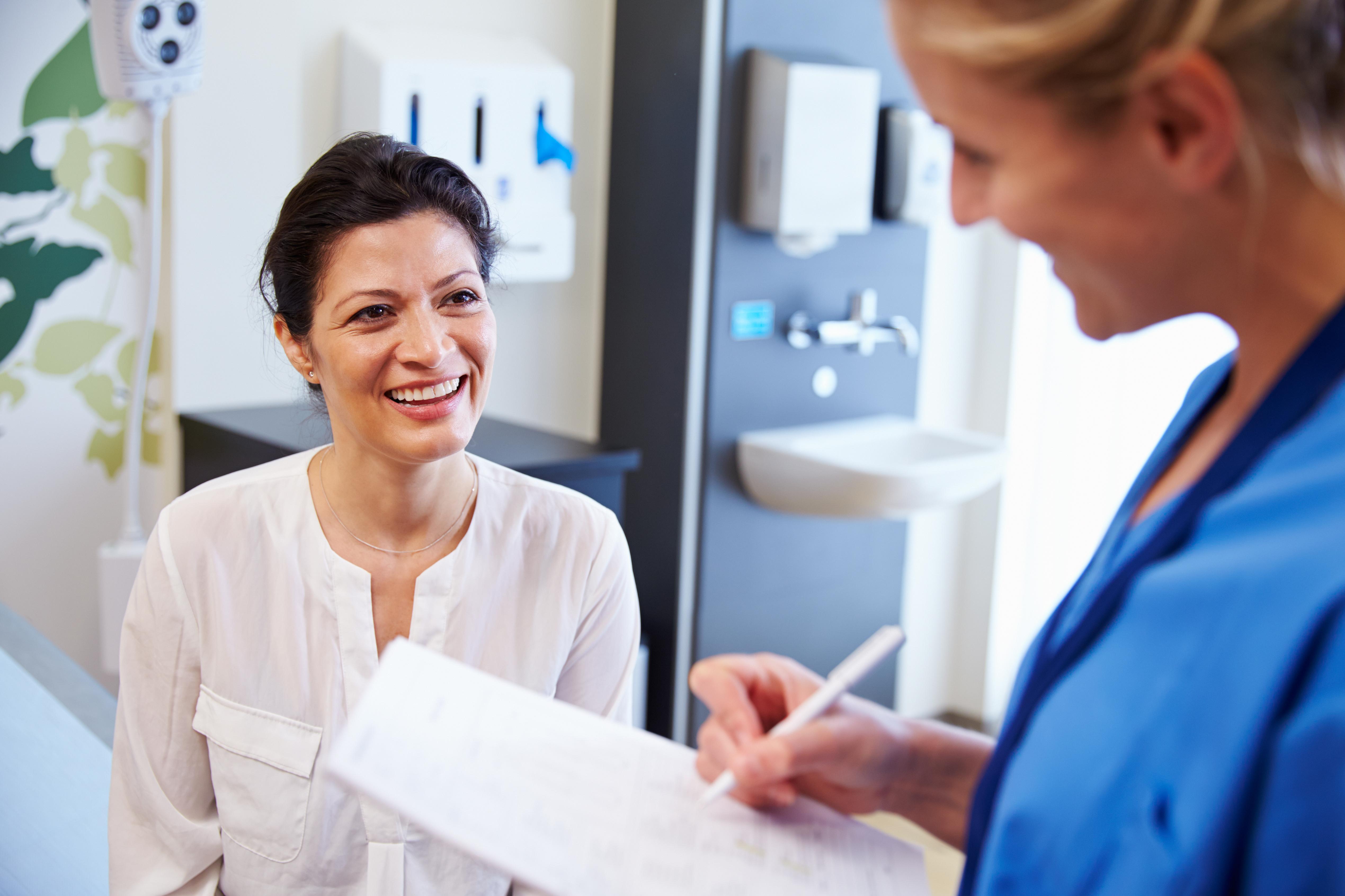 Consultazione dottore paziente