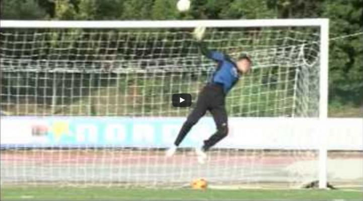 La sparapalloni GLOBUS EuroGoal durante un allenamento con la Sampdoria
