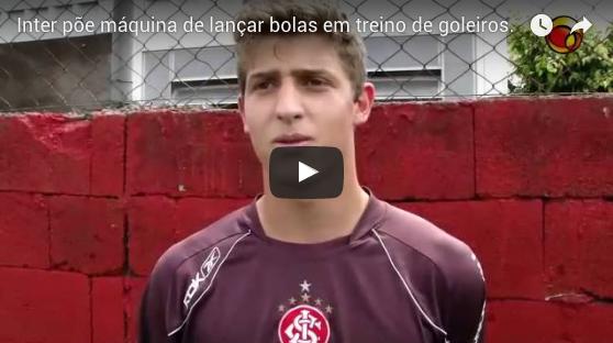 Sport Club Internacional Inter põe máquina de lançar bolas em treino de goleiros