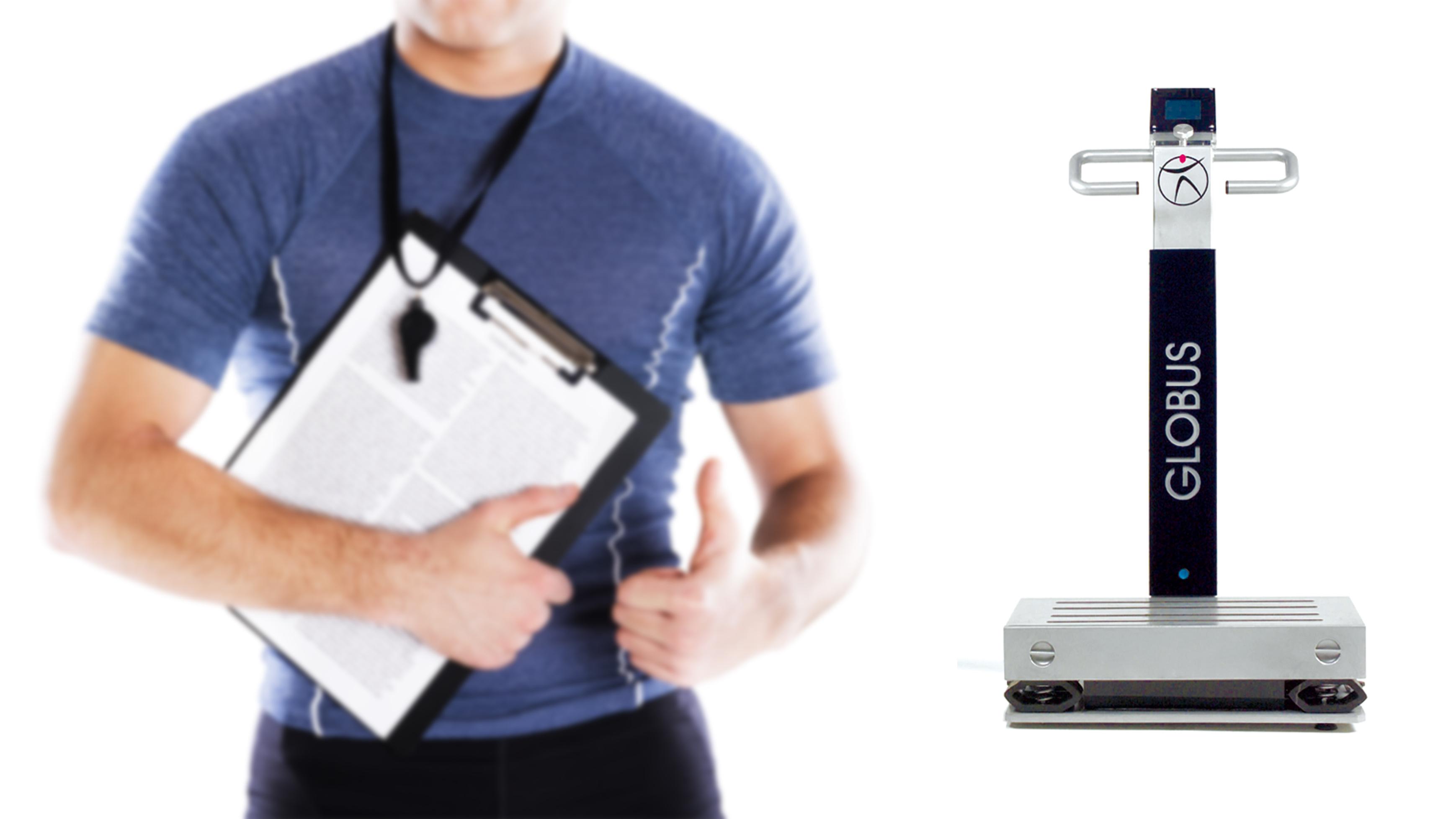 Personal Trainer con Pedana Vibrante Globus Corporation