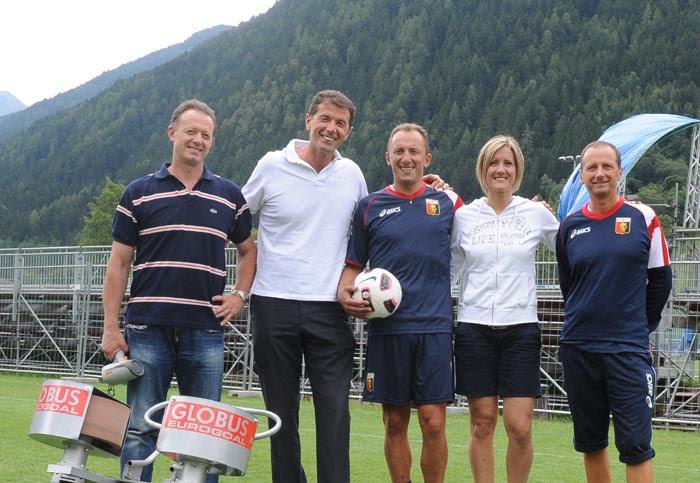 Gianluca Spienelli con Sparapalloni calcio Eurogoal Globus Corporation